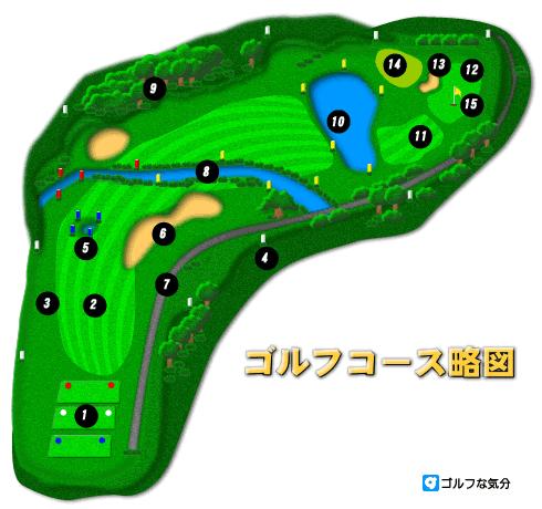ゴルフコース略図