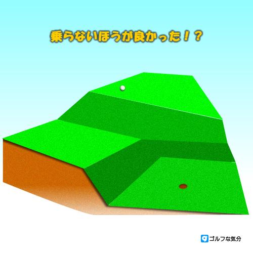 3段グリーンもある広いグリーンの攻め方